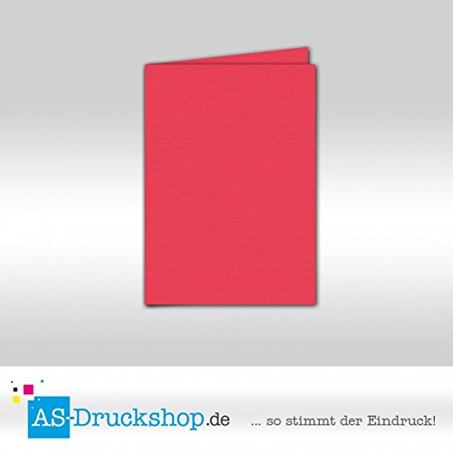 Faltkarte Doppelkarte - Fuchsia 50 Stück DIN A5 B07955L7C6 | Billig
