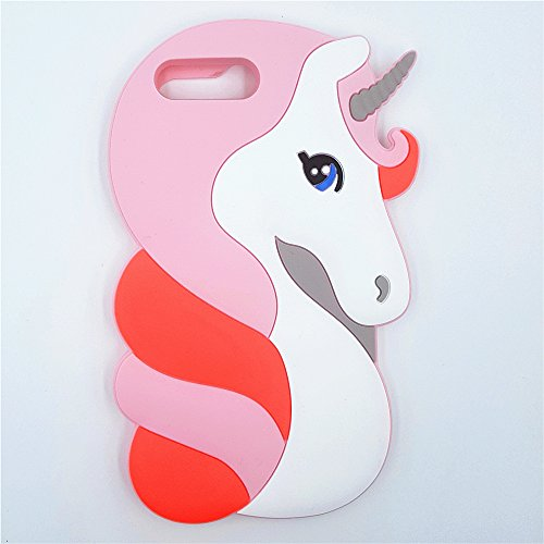 Cover Animal - iPhone 7 Plus Case / iPhone 8 Plus Case WGSSB Fashion Cute 3D Cartoon Animal Horse Unicorn Cover Vivid Soft and Protective Silicone Rubber Phone Case for Apple iPhone 7plus / 8plus (Pink Unicorn)