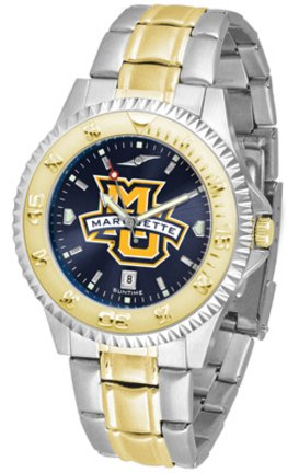 Watch Eagles Competitor - SunTime Marquette Golden Eagles Competitor AnoChrome Two Tone Watch