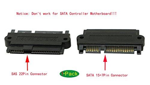 CGTime SAS 22 Pin to 7 Pin + 15 Pin SATA Hard Disk Drive Raid Adapter with 15 Pin Power Port