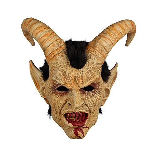 - Scary Mask Demon Devil Lucifer Horn Mask Halloween Cosplay Festival Party Props