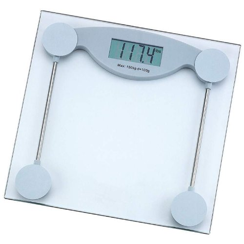 glass electronic bathroom scale display
