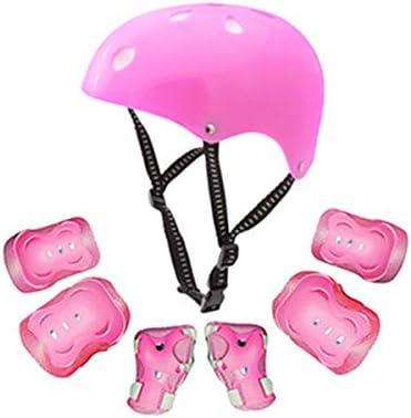 [해외]어린이용 키즈 프로텍터 세트 7 점 세트 자전거 헬멧 손목 팔꿈치 무릎 패드 커버 롤러 스케이트스케이트 보드자전거 스포츠 보호 대 보호 패드 어린이의 안전을 위해 / Kids Protector Set 7 Pieces Set Bike Helmet Wrist Elbow Knee Pad Cover Ro...