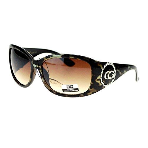 CG Eyewear Womens Oversize Round Butterfly Designer Fashion Sunglasse Metallic - Designer Sunglasse