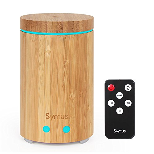 Street Light Diffuser: Syntus Essential Oil Diffuser, Real Bamboo Diffuser With
