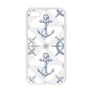 Pink Ladoo? Anchor and Wheel background Designer Personalized Custom Plastic CASE for iPhone