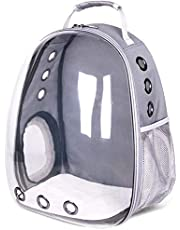 Bubble Backpack Pet Carrier, Portable Big Cats/Dog Backpack Carrier Bubble - Large Space Capsule Bubble Panoramic Transparent Breathable Handbag Outdoor Travel Rucksack (Black)