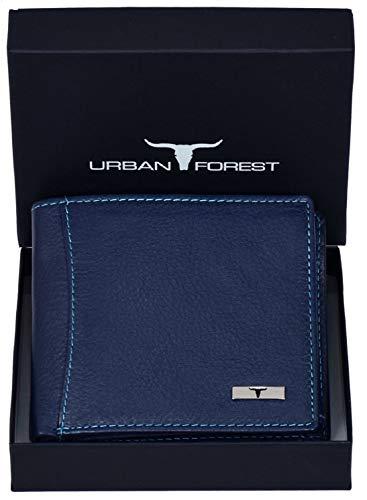 Urban Forest Oliver Blue RFID Blocking Leather Wallet for Men – Mens Leather Wallet