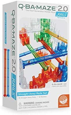 MindWare Q-BA-Maze Marble Run: Rails add-on Set