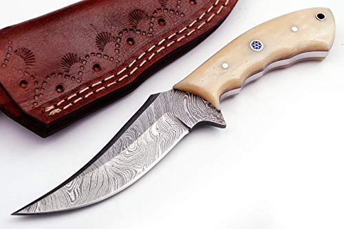 Grace Knives Handmade Damascus Hunting Knife 7.5 Inches G -171 (with Sheath)
