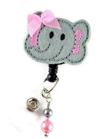 Cute Elephant - Nurse Badge Reel - Retractable ID Badge Holder - Nurse Badge - Badge Clip - Badge Reels - Pediatric - RN - Name Badge Holder