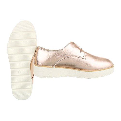 Chaussures Ital Design lacets Gold Rosa à femmes pour IW7IcRPqr