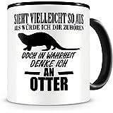 Tasse Becher Kaffeetasse Surfbus mit Otter Seeotter /& Spruch Spaß haben ts455