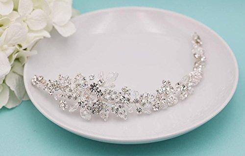 Swarovski Crystal Leaves Bridal Hair Vine Clip