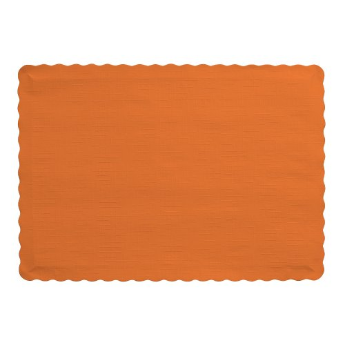 Creative Converting 863282B PLACEMATS, One Size, Sunkissed Orange