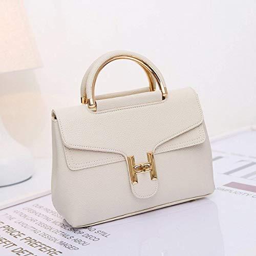 modèle bandoulière Mode Sac Paquet Creamy épaule white Noir Taille coloré Litchi Messenger Moontang Platine Sac Dames à x0zXTnnFW