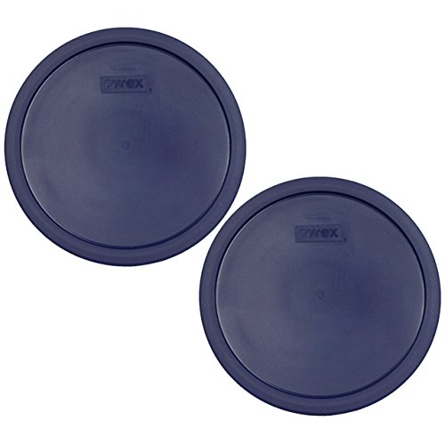 Pyrex 7403-PC 10 Cup Blue Round Plastic Storage Lid - 2 Pack (For SCULPTURED Mixing Bowl ONLY)