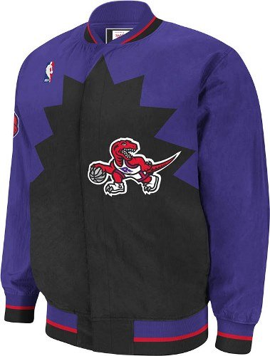 Mitchell & Ness Toronto Raptors Warm Up Jacket Extra Extra Large Purple from Mitchell & Ness