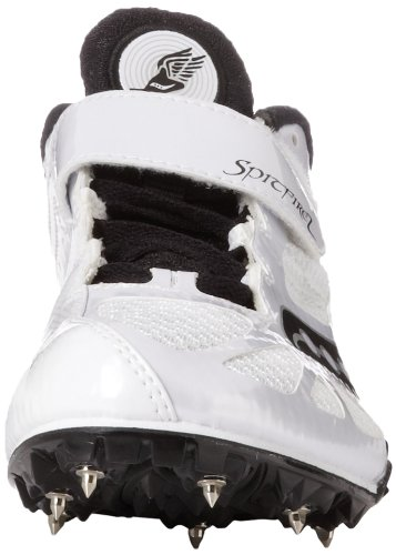 Saucony Men's Spitfire Track Shoe,White/Black,10 M US