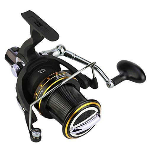 2019 New Spinning Fishing Reels 14 Axis Gapless Fish Wheel Semi-Metal Folding Gh6000-1100 Fishing Coil Handshake Fishing #Ss,Black,14,Other (Best Coil Jig 2019)