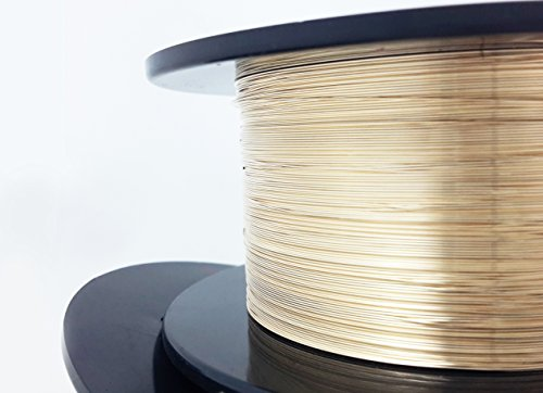1 Ounce (76 Ft) 14/20 Yellow Gold Filled Wire 26 Gauge, Round, Half Hard - from Craft - Round Filled Gold Wire Gauge