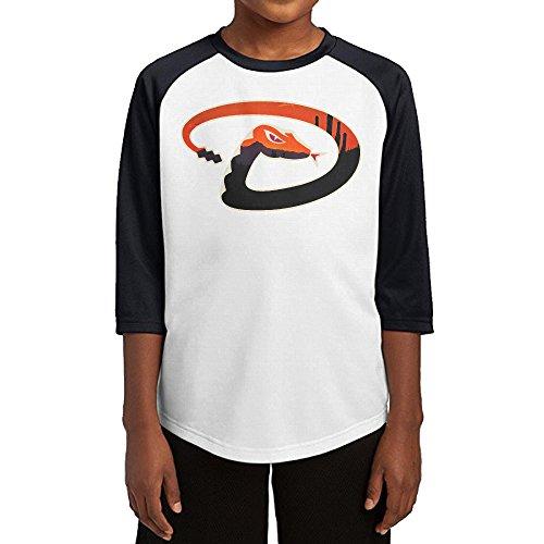 Mascot Costumes Jays Toronto Blue (Hotboy19 Youth Boys Arizona Sport Baseball Diamond Raglan Tee Baseball Shirt Black Size)