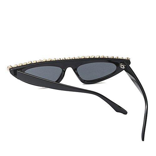 Rhinestones Mujeres de de Las Gato de Lujo Gafas Verano Ojo para Ojo Negro Gato Gafas de de UV400 de con de de TL la Sunglasses la Mujer Decoración Sol Fiesta 0Eawqxvn