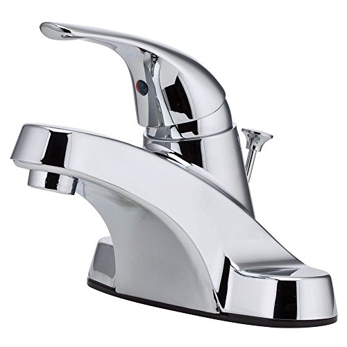 Pfister LG1427000 Pfirst Series Single Control 4 Inch Centerset Bathroom Faucet in Polished Chrome, Water-Efficient Model ()