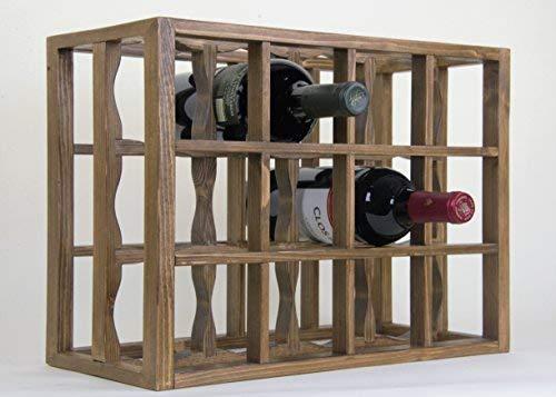 (Victoria Wine Rack 12 Bottles Solid Pine Pecan Stain (Pecan))