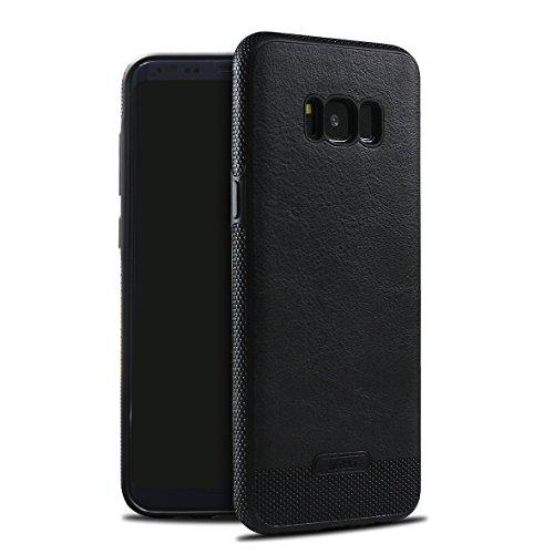 Galaxy S8 Case SunRemex Luxury Leather Grain with Full Body Protective and Anti-Scratch and Non-Slip Design Design for Samsung Galaxy S8(2017) (Black)