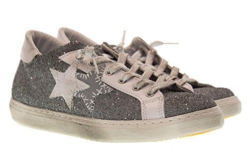 de Deporte 2 Bajas 1865 Gris Zapatillas Star 2SD Mujer Gris de Zapatos qfEZEtx