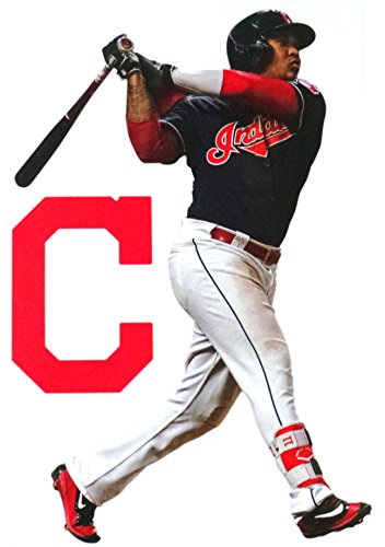 FATHEAD Jose Ramirez Mini Graphic + Cleveland Indians Logo Official MLB Vinyl Wall Graphics 7