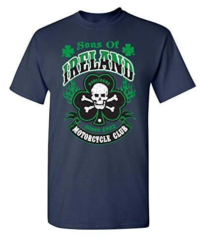 Sons of Ireland Hooligans Motorcycle Club Irish Funny St Patrick's y T Shirt