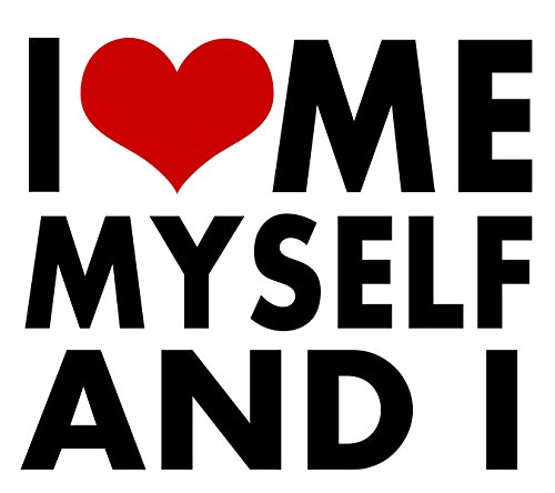 Me Myself and I Love STICKER Heart DECAL VINYL BUMPER DECOR CAR Graphic Wall