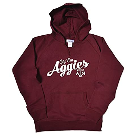 NCAA Texas A&M Aggies Girls V Neck Hoodie, Size 14-16/Large, Maroon (Hoodies Texas)