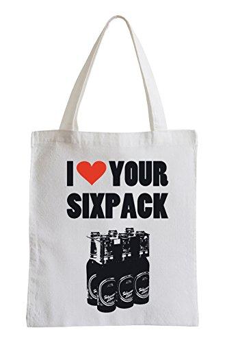 Mi piace il tuo Sixpack Fun sacchetto di iuta