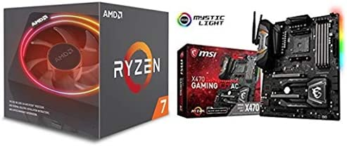 Pack placa base + procesador - Placa base MSI X470 Gaming M7 AC (S AM4, DDR4, SATA3, Dual M.2), y procesador AMD Ryzen 7 2700X (20 MB, 8 núcleos, 4.35 GhZ, 105 W): Amazon.es: Informática