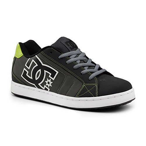 Dc Suregrip Mens Net Sg Grey Lime Slip Resistant Work Shoes