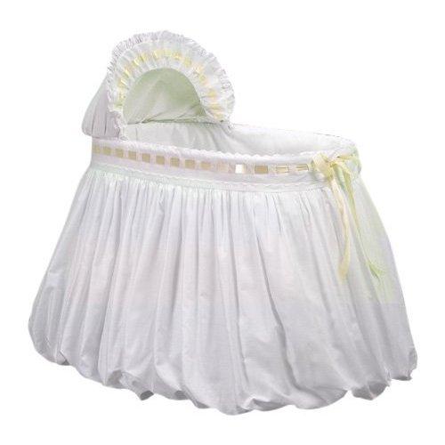 Baby Doll Bedding Pretty Ribbon Bassinet Set, Yellow