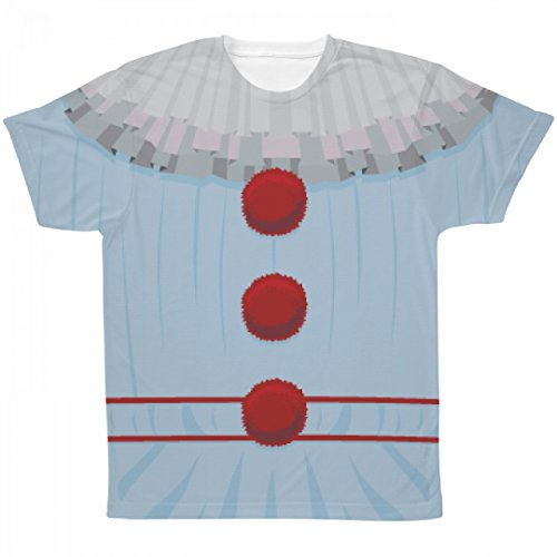 Creepy Clown Outfit Costume Tee: All Over Printing Unisex SubliVie Tee