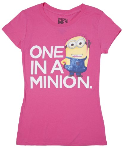 despicable-me-one-in-a-minion-junior-t-shirt-pink-xx-large