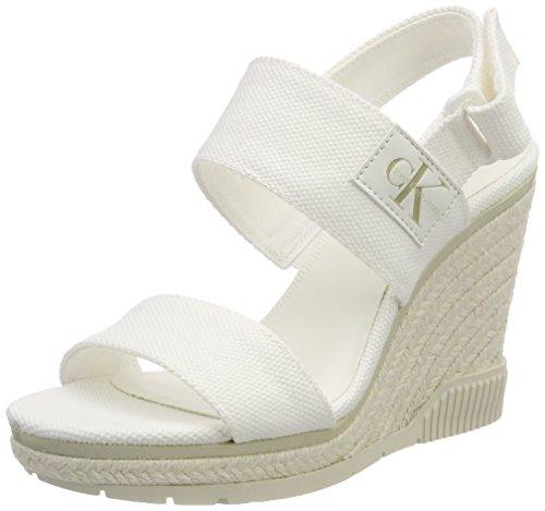Tacon Ofw Tobillo Jeans 000 y con Lacey Klein para Zapatos Mujer Canvas Correa Blanco Calvin de YnTg4qC