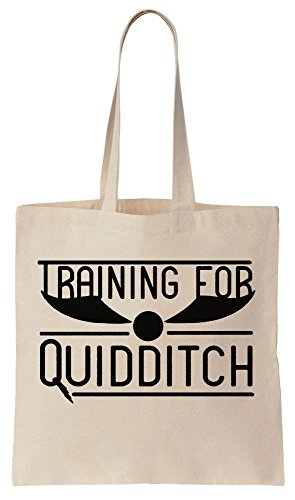 Training For Quidditch Sacchetto di cotone tela di canapa