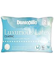 Dunlopillo Classic 2 Pack Genuine Luxurious Talalay Latex Medium Profile & Feel Pillows