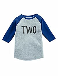 Tstars 2nd Birthday Gift for 2 Year Old Child 3/4 Sleeve Baseball Jersey Toddler Shirt