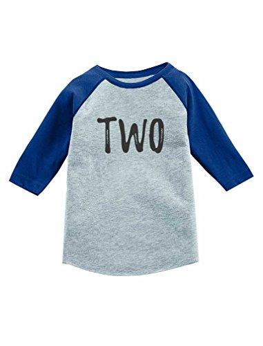 Tstars 2nd Birthday Gift for 2 Year Old Child 3/4 Sleeve Baseball Jersey Toddler Shirt 2T Blue (Birthday Sleeve 3/4)