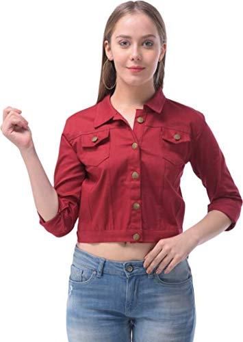 C.Cozami Full Sleeves Solid Women's Denim Jacket