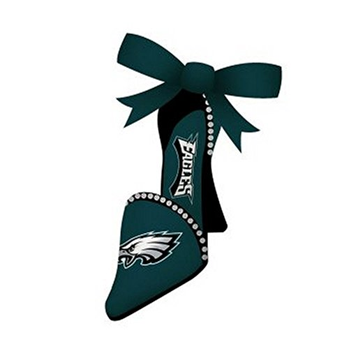 NFL Licensed Philadelphia Eagles Team Shoe Ornament with Ribbon