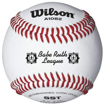 Wilson A1082 Babe Ruth League Tournament Series Baseball (12-Pack), White by Wilson