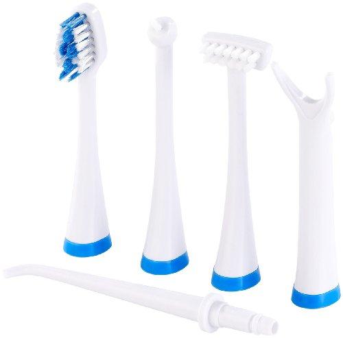 newgen medicals 10 Wechselköpfe für Zahnpflege-Set NC-4990